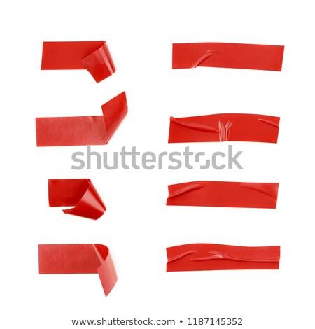 красный · наклейку · Label · белый · бизнеса · информации - Сток-фото © Arsgera