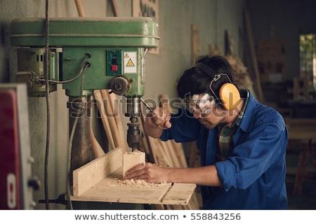 ács · védőszemüveg · fúró · építkezés · munka · természet - stock fotó © photography33