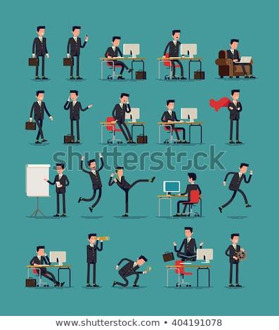 kicking business man stock photo © feedough