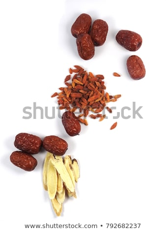Stock photo: red dried goji berries traditional chinese herbal medicine