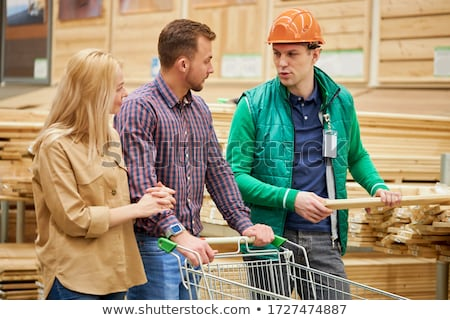 Female construction worker buying building materials from a supplier Stock photo © photography33