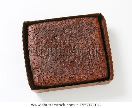 Cake boven vork afbeelding voedsel chocolade Stockfoto © TheProphet
