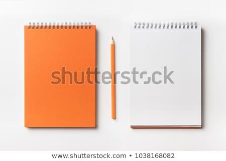 Colorato carta da lettere matita bianco carta blu Foto d'archivio © devon