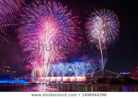 Negyedike nap Egyesült Államok Amerika nagy szett Stock fotó © leonido