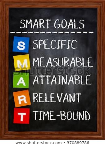 smart goals written on a blackboard stock photo © bbbar
