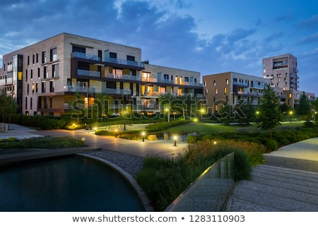 apartment building at night stock photo © cozyta