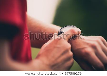 Uomo polso esercizio mano sport Foto d'archivio © photography33