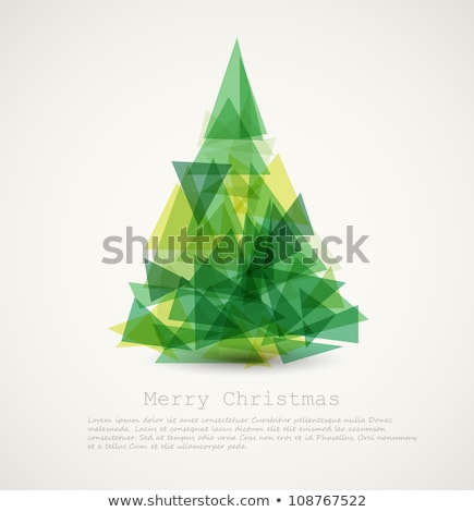 simple vector green christmas card illustration stock photo © orson