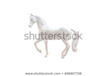 white horse statue Stock photo © goce