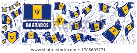 Image of heart with flag of Barbados Stock photo © perysty