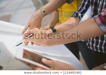 close up of male surveyor's hand Stock photo © photography33