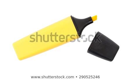 Highlighter canetas isolado branco papel laranja Foto stock © experimental