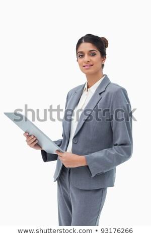 Presse-papiers blanche affaires travaux Photo stock © wavebreak_media