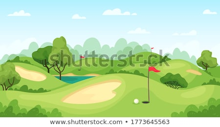 golfista · sabbia · giovani · maschio · palla · bella - foto d'archivio © forgiss