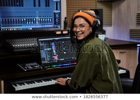 Synthesizer artist Stock photo © kalozzolak
