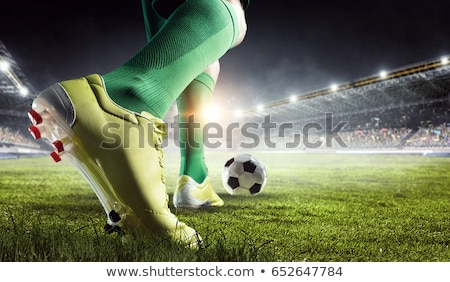 Piłka nożna kopać mężczyzna powietrza Zdjęcia stock © stevemc