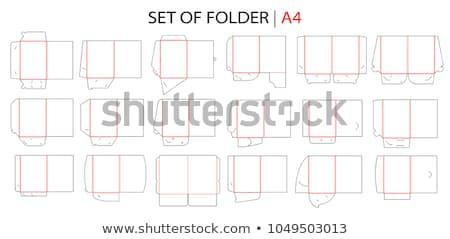 Ayarlamak klasörler ofis kâğıt okul dizayn Stok fotoğraf © cteconsulting