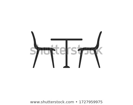 cafe restaurant table and chair outdoors stock photo © backyardproductions