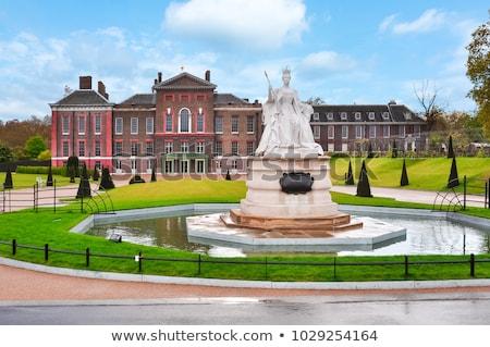 queen victoria statue at kensington palace in london stock photo © chrisdorney