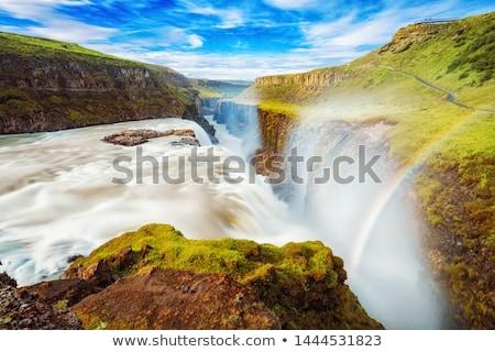 gullfoss waterfall in iceland stock photo © mikdam