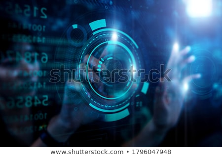 grafikon · érintés · üzletember · megérint · képernyő · üzlet - stock fotó © matteobragaglio