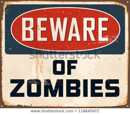 Photo stock: Vecteur · zombie · signe · silhouettes · mains