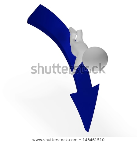 Falling 3d Character Showing Danger And Ruin Stock photo © stuartmiles
