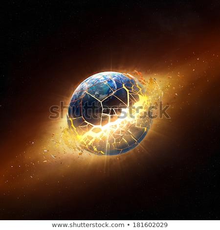 Earth Exploding Stock photo © ArenaCreative