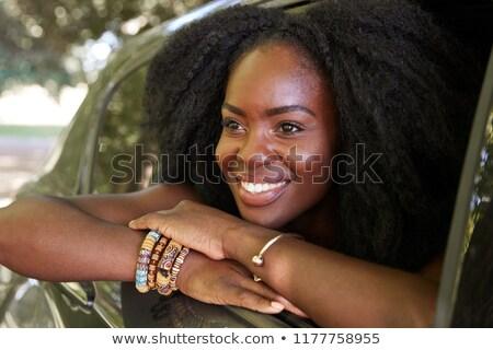 portrait · séduisant · puce · femme · dame · ciel - photo stock © ssuaphoto