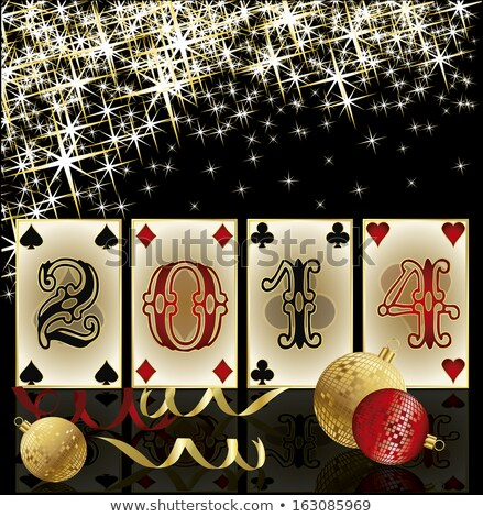 New 2014 Poker Year, greeting card, vector illustration Stock photo © carodi