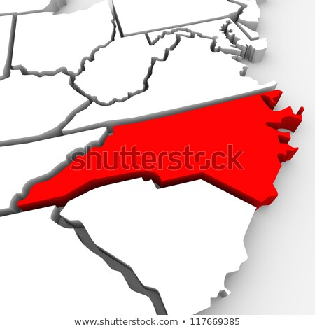 Map Of North Carolina State 3d Shape Stock photo © NiroDesign