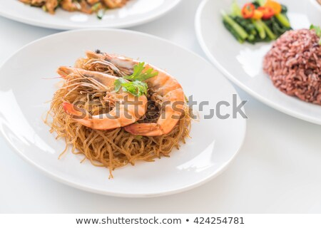 camarão · camarão · gengibre · pimenta · molho - foto stock © thanarat27