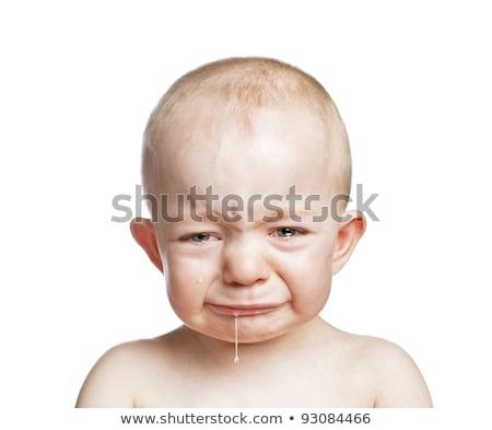 Choro bebê menino isolado cara triste Foto stock © EwaStudio
