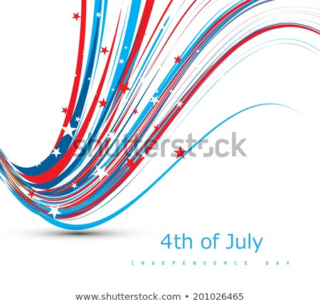 Vector wave 4th of july beautiful american independence day desi Stock photo © bharat