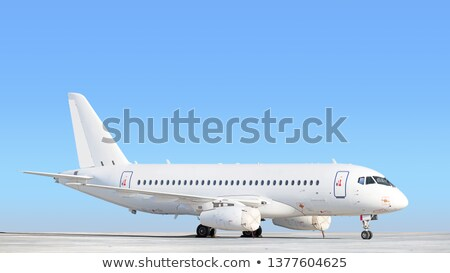 Airplane taxiing at large airport Stock photo © franky242