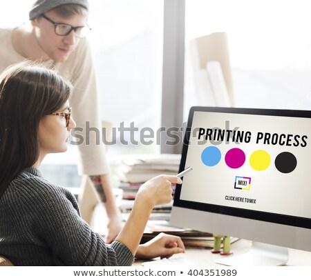 点数 印刷 技術 インク 抽象的な デザイン ストックフォト © Ustofre9