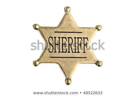 şerif · duvar · yazısı · eski · tuğla · duvar · güvenlik · duvar - stok fotoğraf © leonido