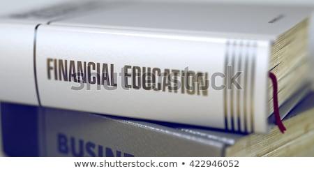 Finanziaria alfabetizzazione titolo libro blu nero Foto d'archivio © tashatuvango