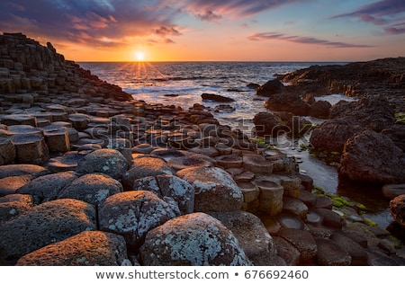 sunset, Giant''s Causeway, County Antrim, Northern Ireland Stock photo © phbcz