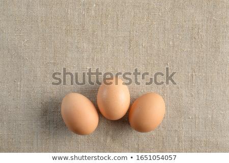 три · коричневый · яйца · белый · Пасху · продовольствие - Сток-фото © peter_zijlstra
