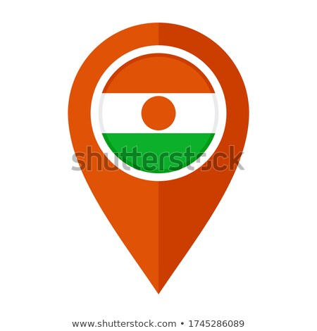 Orange bouton image cartes Niger forme Photo stock © mayboro