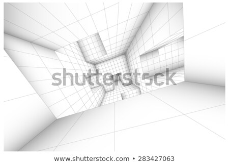 3d futuristic labyrinth shaded vector interior illustration Stock photo © Melvin07