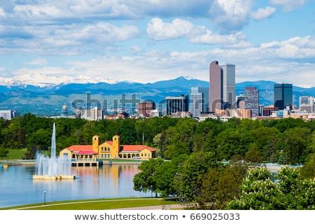 centrum · Colorado · rano · miasta · parku · wygaśnięcia - zdjęcia stock © andreykr