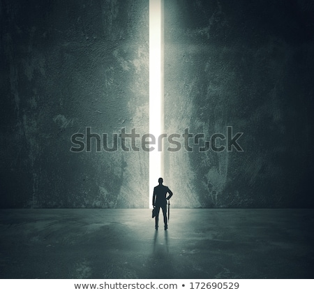 бизнесмен открытых мнимый двери деловой человек стороны Сток-фото © fuzzbones0