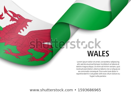 Waving flag of wales Stock photo © MikhailMishchenko
