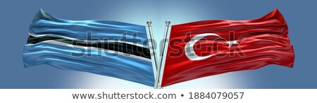 Turkey and Botswana Flags Stock photo © Istanbul2009