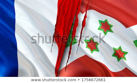 França Burundi bandeiras quebra-cabeça isolado branco Foto stock © Istanbul2009