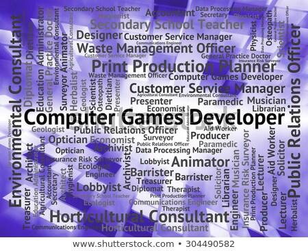 computer · games · ontwikkelaar · baan · woord - stockfoto © stuartmiles