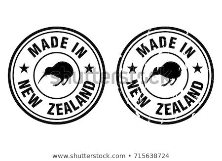 Nova Zelândia país bandeira mapa forma texto Foto stock © tony4urban