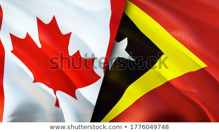 Canada and East Timor Flags Stock photo © Istanbul2009